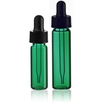 Green Glass Vials